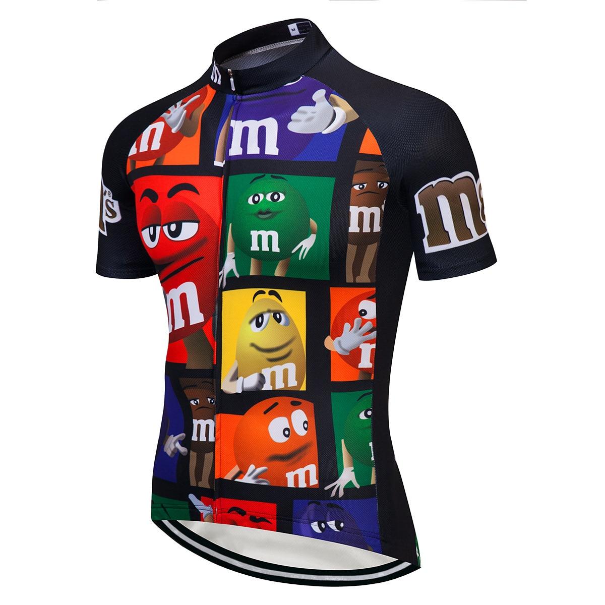 2020 transpirable bicicleta de montaña ropa de carreras DH MTB camiseta de dibujos animados ciclismo Jersey Road Team bicicleta Wear camisetas hombres