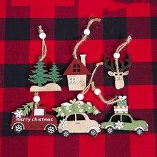 Weihnachten Holz Dekorative Anhänger Auto Fawn Für Weihnachten Persönliche Party Besonderen Urlaub Und Hochzeit Szene 3 Packs