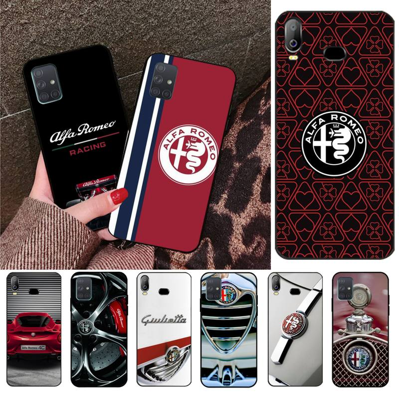 Alfa romeo bonita Do Cliente de Alta Qualidade Caixa Do Telefone Para Samsung A10 A20 A30 A40 A50 A70 A80 A71 A91 A51 A6 A8 2018