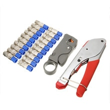 Ensemble doutils de dénudage de connecteur de Compression Coaxial de Type F de nouveauté pour outils de sertissage de câble Coaxial