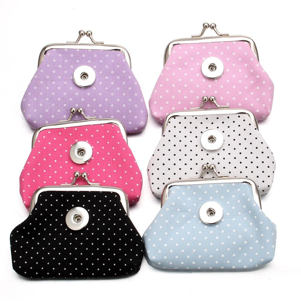 Nowy Snap przycisk biżuteryjny bransoletki bransoletki błyszczące cekiny portmonetki małe portfele etui dziewczyna damski portfel świąteczny prezent