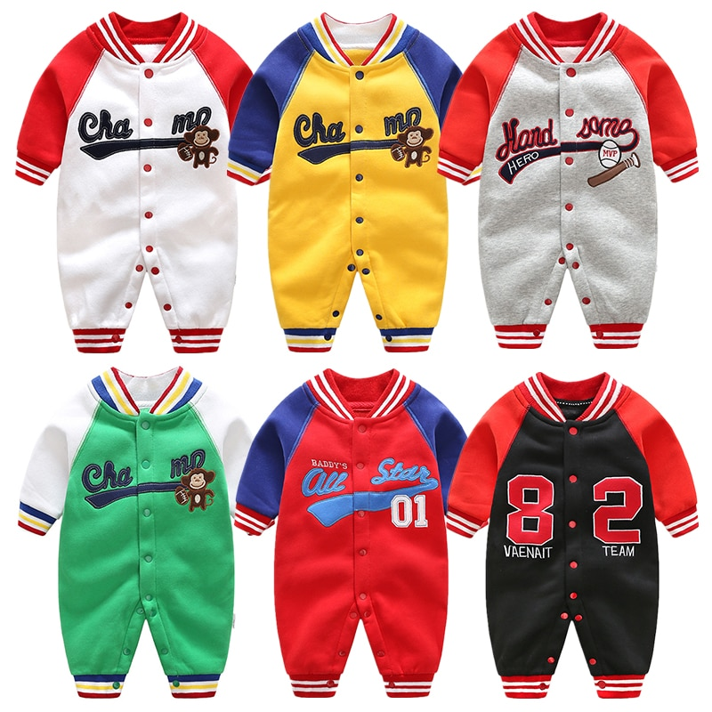 Newborn Baby Long Sleeved Jumpsuit Boys Girls Spring Autumn Clothes Baby Sports Sweaters Outwear Warm Rompers Baby Pajamas newborn baby baby boys girls summer clothes pure cotton go out rompers short sleeved jumpsuit baby boys climbing clothes pajamas