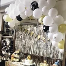 30 pièces 2.3g blanc Latex ballons joyeux anniversaire fête fournitures bébé douche hélium ballon mariage ballon guirlande arc décoration