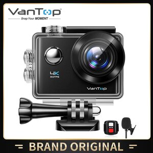 Экшн-камера VanTop, 4K, 20 МП, сенсорный экран, угол 170 °