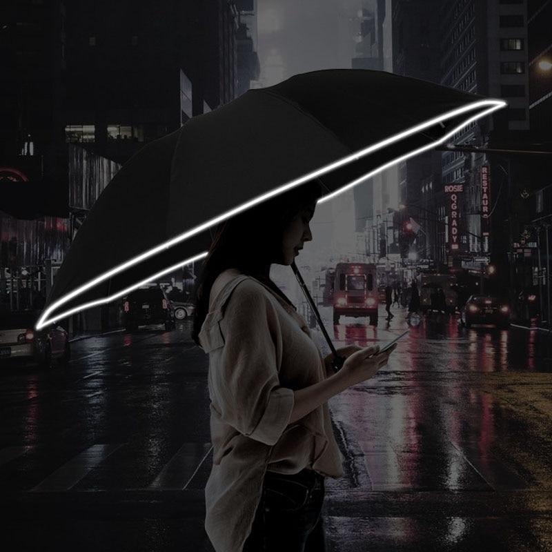 for xiaomi Automatic Umbrella Folding Business Umbrella Reflective Strips Umbrellas Rain For Men Women Windproof Male Parasol
