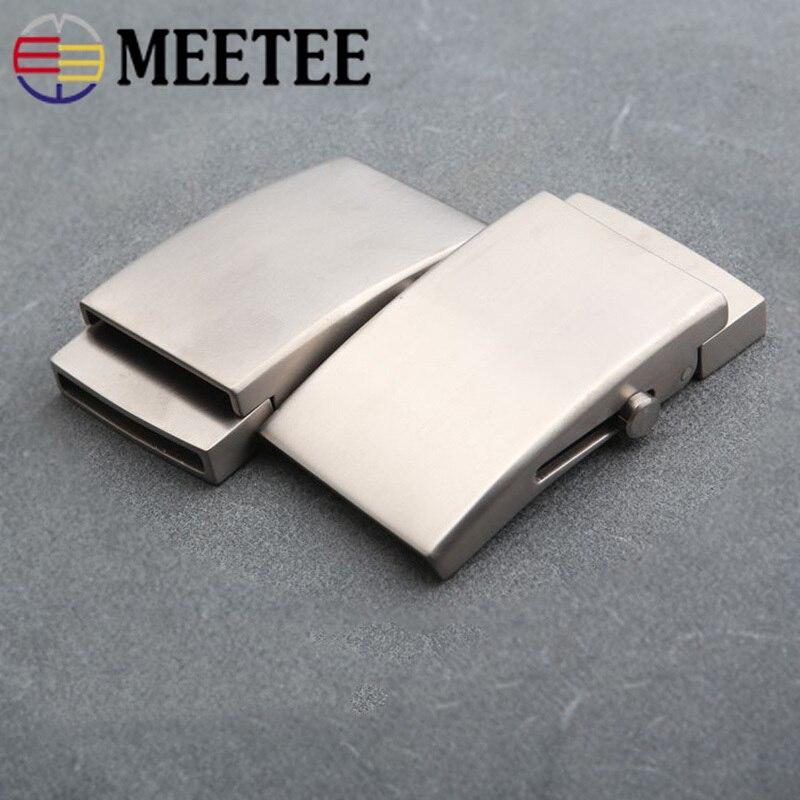 Hebillas de cinturón de titanio puro Meetee 1 ud. 35/38mm, hebillas de rodillos antialérgicos sin dientes, cinturones con hebilla automática, cierre de cabeza, artesanía de cuero DIY