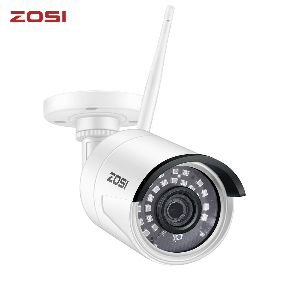 ZOSI HD 1080P 2.0MP كاميرا IP لاسلكية للرؤية الليلية مقاوم للماء واي فاي IP كاميرا مراقبة الأمن لمجموعة ZOSI اللاسلكية NVR