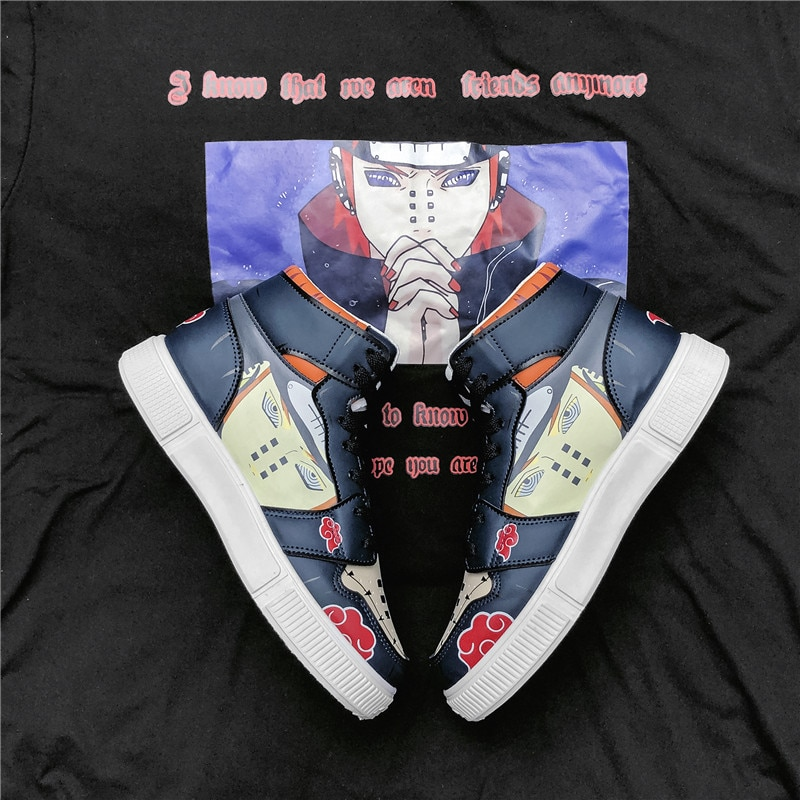 PARZIVAL Anime shoes Naruto Sneakers Pain six cosplay Men Women Casual Shoes Breathable Winter High-