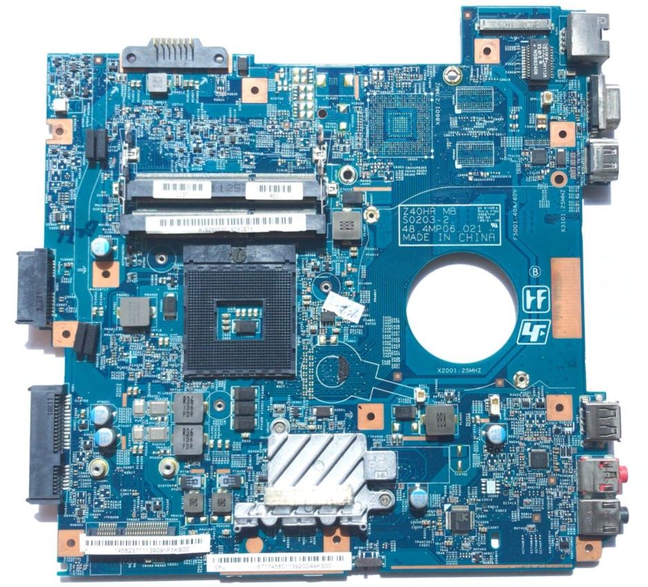KEFU لسوني Vaio VPC-EG VPCEG MBX-250 A1829659A اللوحة الرئيسية Z40HR MB S0203-2 48.4MP01.021 HM65 100% اختبار إجمالي وحدة المعالجة المركزية الحرة