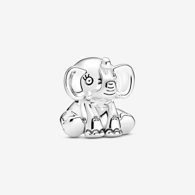2020 New Autumn 100% 925 Sterling Silver The Elephant Charms Beads Fit Bracelet Original DIY Fine  J