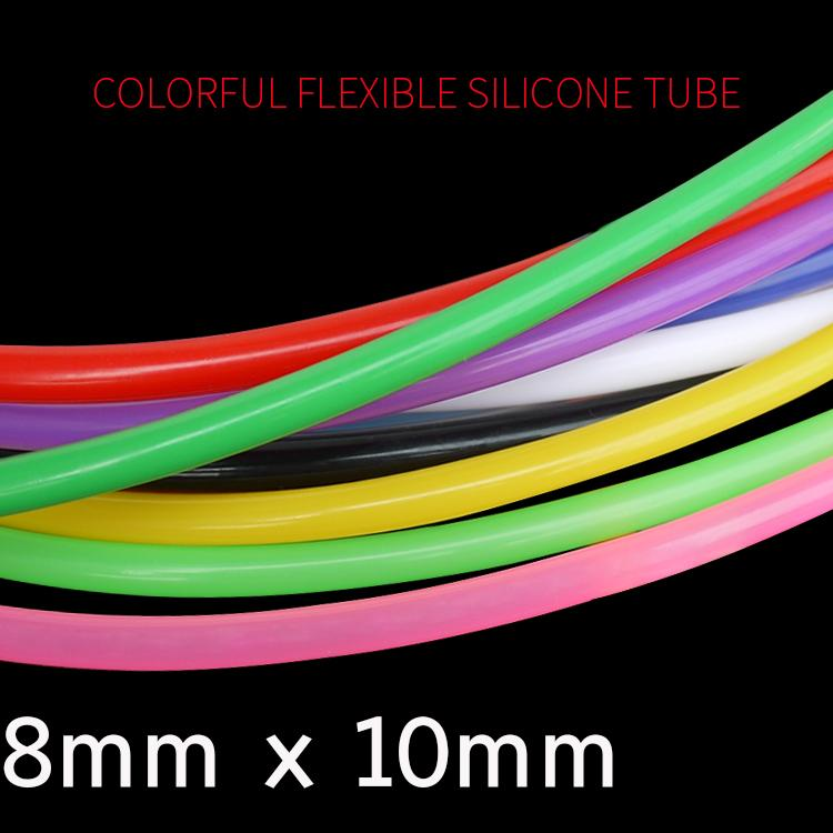 8mm x 10mm food grade silicone rubber flexible garden tube water hose plumbing hoses Colorful Flexible Silicone Tube ID 8mm x 10mm OD Food Grade Non-toxic Drink Water Rubber Hose Milk Beer Soft Pipe Connector