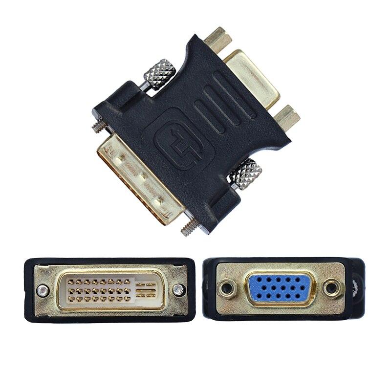 Convertidor de adaptador VGA a VGA para ordenador, convertidor de 24 +...