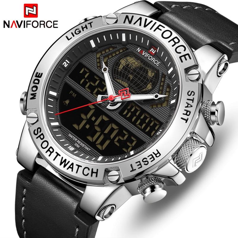 NAVIFORCE Marca de Topo Relógios Homens Moda de Luxo Relógio de Quartzo Dos Homens Militares Chronograph Sports Relógio de Pulso Relogio masculino