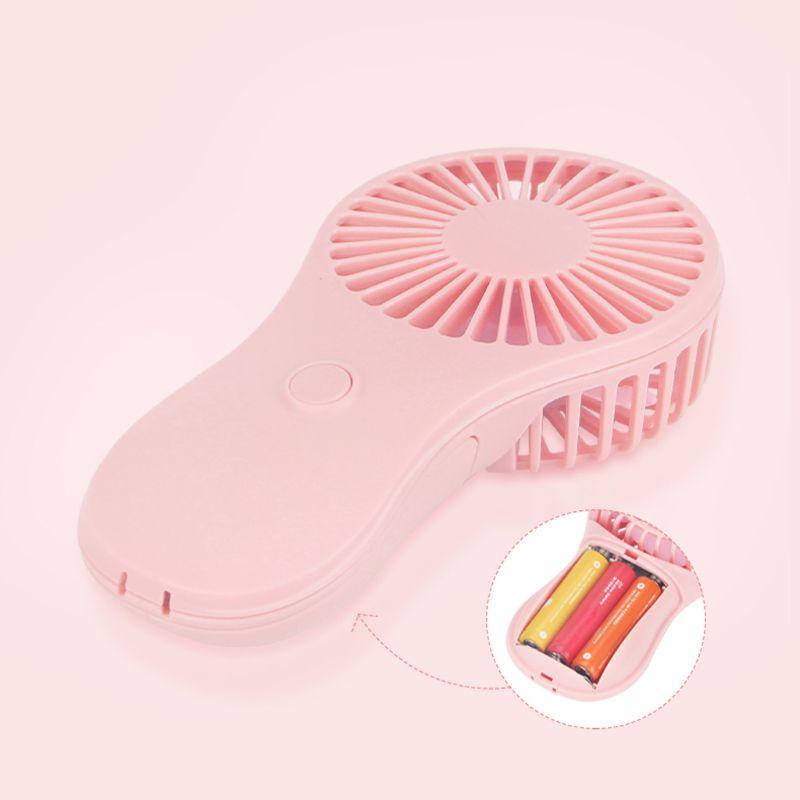 Mini ventilador de bolso portátil ar fresco à mão viagens cooler refrigeração mini ventiladores de energia por 3x aaa bateria dxac