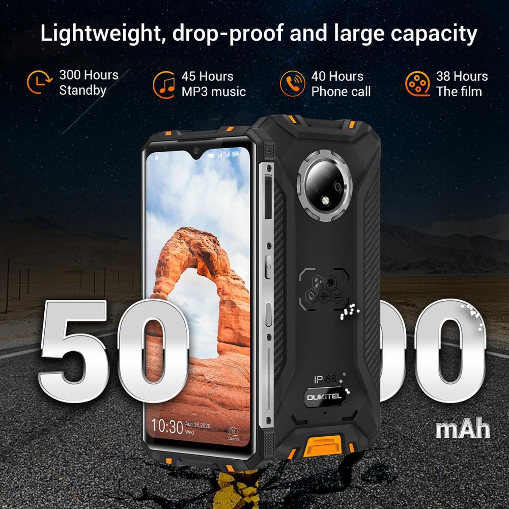 OUKITEL WP8 Pro SmartPhone NFC IP68 Rugged Sports Mobile Phone 6.49'' Fingerprint Android 10 16MP Triple Camera Octa Core