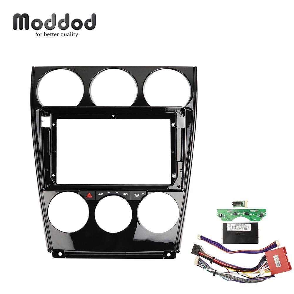 9 Inch Auto Radio Fasica Voor Mazda 6 2004-2016 Cd Dvd Gps Bezel Dashboard Installatie Trim Inbouwen Kit frame Dash Kit Kabel