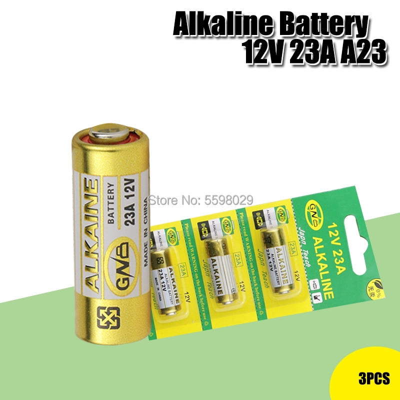 3 unids/lote Batería alcalina 12V 23A 23GA 21/23 A23 A23S E23A EL12...