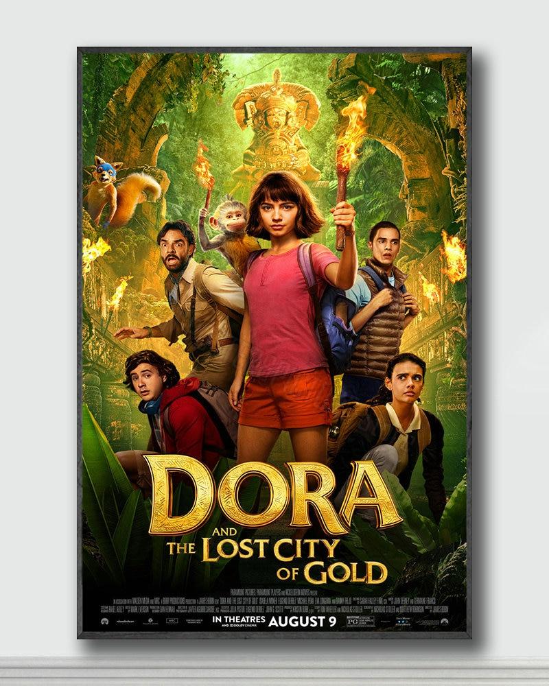 1 póster de seda de NJ072 Dora and the Lost City of Gold Movie, Póster Artístico para pared, decoración del hogar