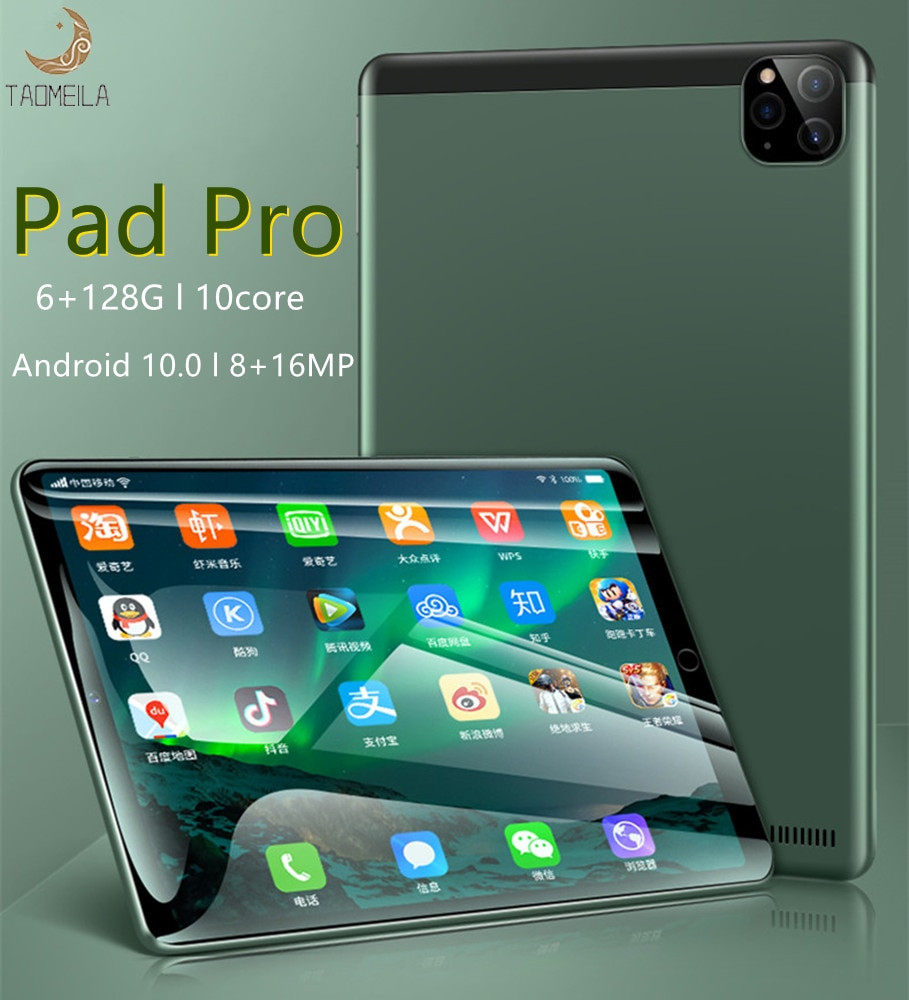 10.1 inch''Pad Pro tablette android 6GB RAM + 128GB ROM graphic tablet MT6788 tablet sale Wifi andro