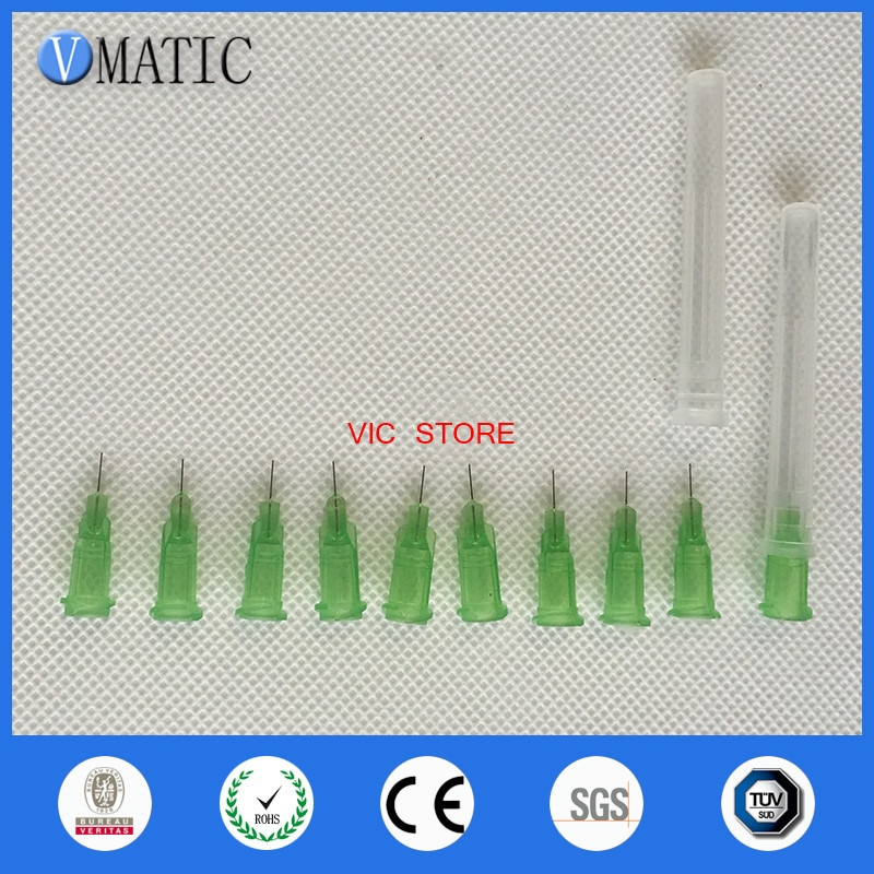 Envío Gratis profesional no esterilizado 34G Luer Centro de bloqueo 1/4 pulgadas longitud del tubo pegamento aguja de dispensación punta con tapa/tapón