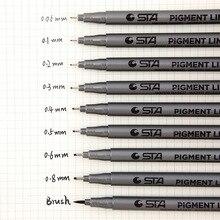1 pièces Art marqueur stylo différentes tailles de pointe noir Pigment Liner à base deau pour dessin peinture écriture