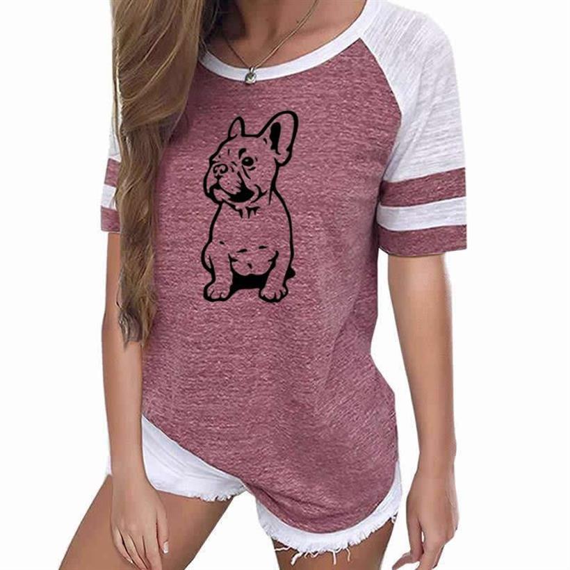 Women Summer Leisure Funny Pug Print T-Shirt Harajuku Women Top  Loose T-Shirt Summer Women Streetwear Tops T Shirt