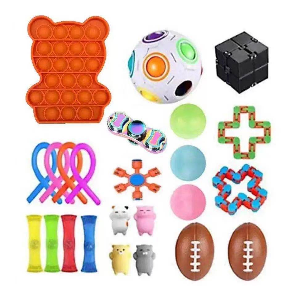 Fidget Toys Anti Stress Toy Set Stretchy Strings Mesh Marble Sensory Anxiety Relief Push Set pops it Adults Girl Children Gift enlarge