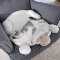sheep lamb dog mat alpaca entry pad carpet foot mat plush warm toy pet dogs cats room decor for dogs