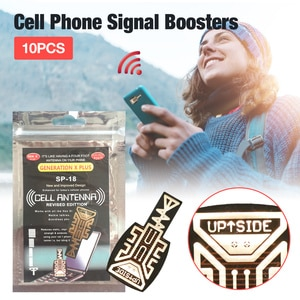 10 Pcs SP-18 Generation Energy Stickers Cell Phone Signal Enhancement Signal Antenna Booster Stickers Phone Signal Booster