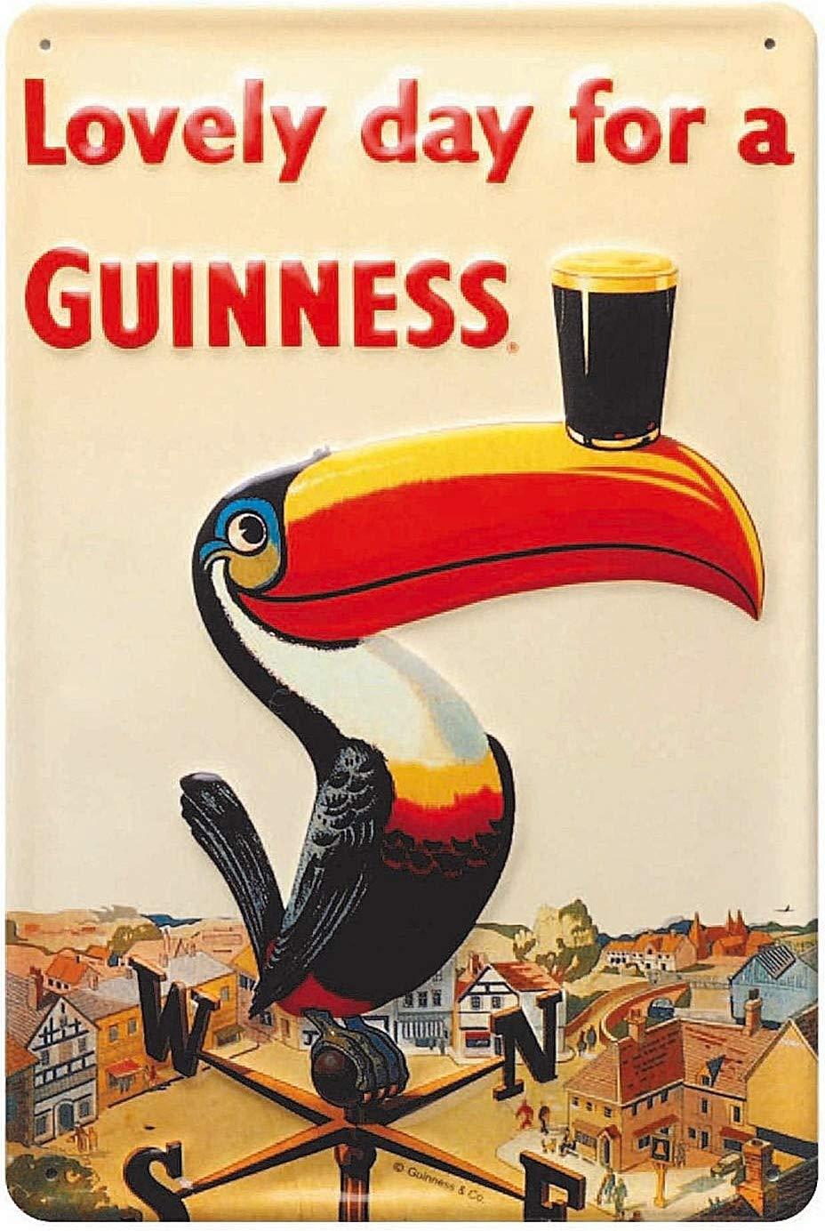 Signo de pared de Metal Guinness (tucán)