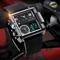 feice 2020 male quartz watch luxury casual multifunctional fashion digital display 3 sub displays wristwatch sport fk030