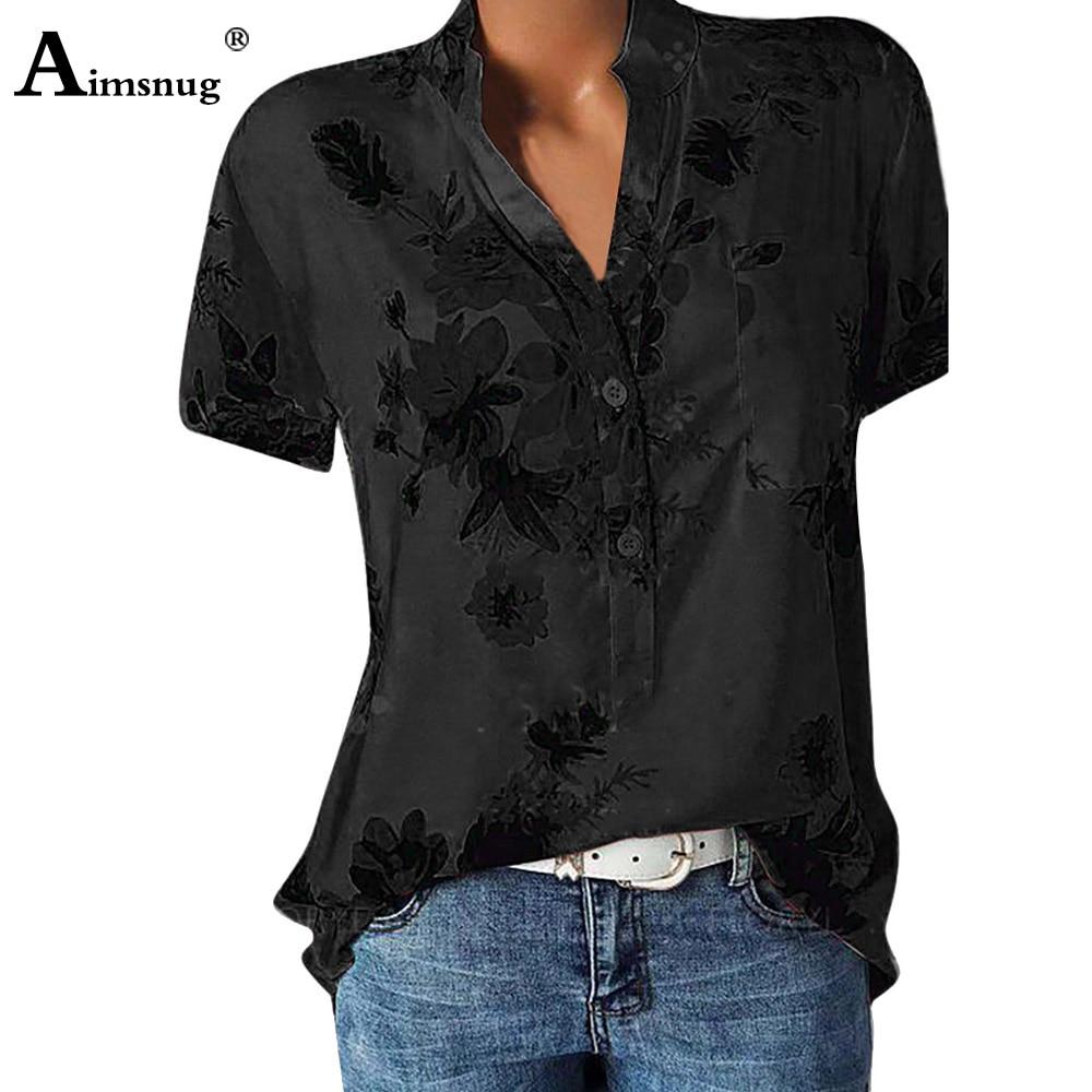 2020 Summer Women Boho Leisure Casual Top Flower Print Blouse Pullovers blusas mujer de moda Ladies Single-Breasted Loose Shirt