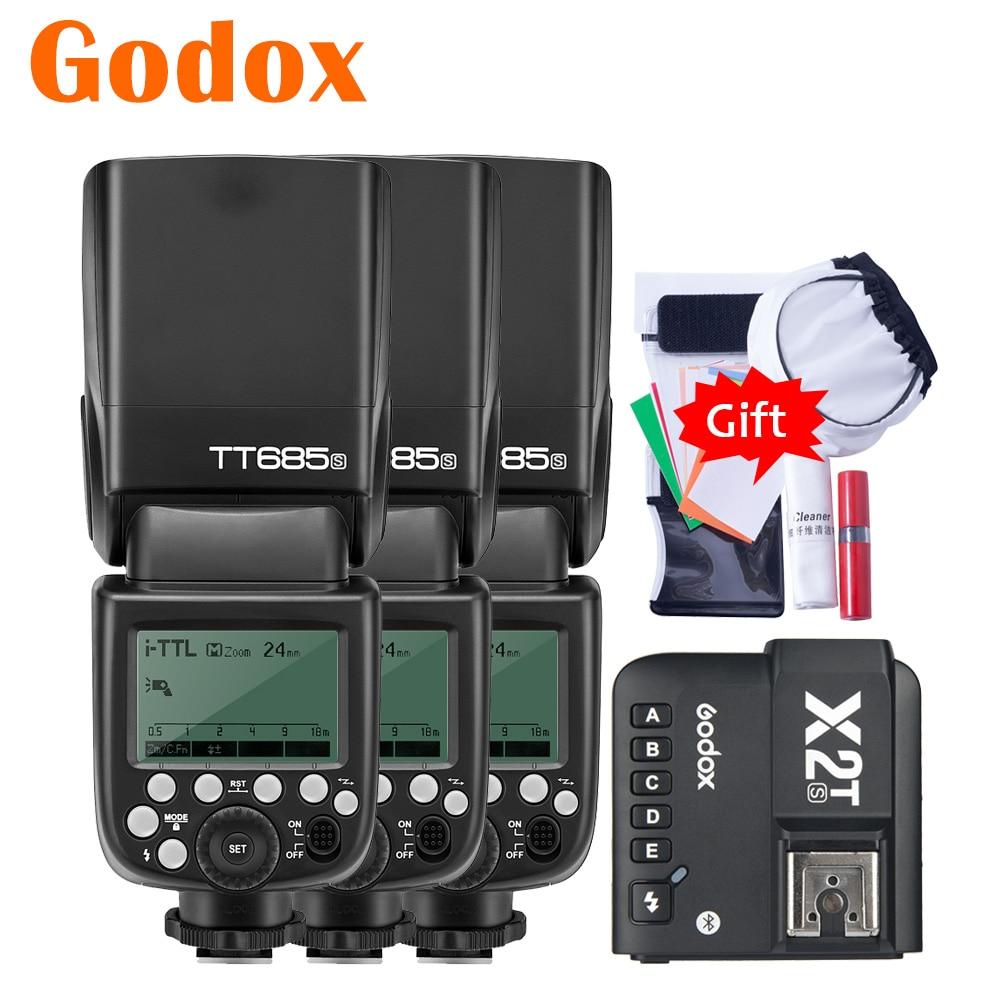 Godox TT685S TT685-S 2,4G HSS TTL Cámara Flash Speedlite X2T-S Bluetooth para Android IOS iPhone transmisor de gatillo para Sony