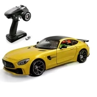 hgm toys 128 2 4g mini q9 4wd drift racing rc car rtr version with radio 6ch metal chassis diy mercedes gtr model th19486 smt5