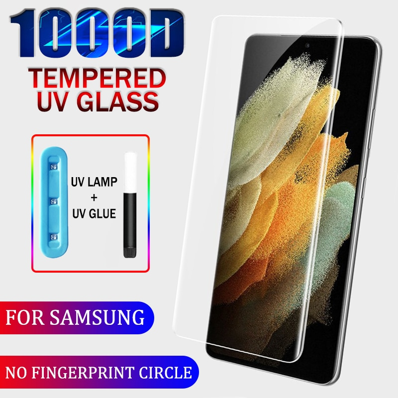 1000D UV Tempered Glass For Samsung Galaxy S21 S20 S10 S9 S8 Plus S10E S10(5G) Screen Protector For Samsung Note 20 Ultra 10 9 8