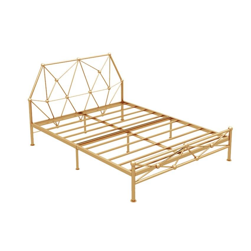 الحديد هيكل سرير 150 × 200 سنتيمتر الشمال الحديثة بسيطة غرفة المعيشة واحدة مزدوجة الكبار المراهقين الأطفال الحديد التوأم هيكل سرير إطار مستقر