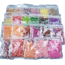 23 Styles canne tranches canne tranches 10000 pièces 3D fruits cannes polymère argile Nail Art autocollants conseils tranches décorations