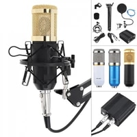 bm 800 live microphone with usb phantom power supply karaoke condenser microphone suit kits for computer recording studio