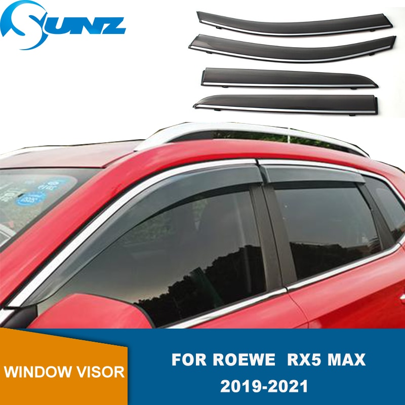 Side Window Visor For Roewe RX5 MAX 2019 2020 2021 Smoke Weathershields Sun Rain Deflector Wind Rain Guards  SUNZ