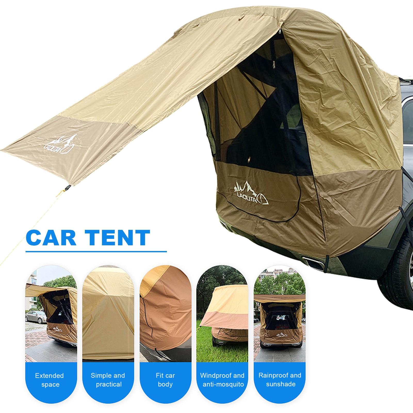 سيارة جذع خيمة ظلة غير نافذ للمطر جولة الشواء في الهواء الطلق الذاتي القيادة جولة الشواء سيارة مخيمات الذيل تمديد خيمة