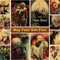 hot tokyo ghoul anime posters kraft paper vintage poster prints clear image art painting bar home decoration wall decor modern