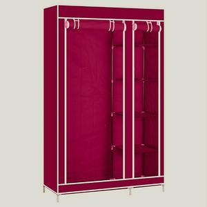 Wine red Wardrobe Non-woven Cloth Wardrobe Closet Folding Portable Clothing Storage Cabinet Bedroom Furniture