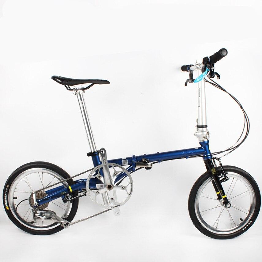 Bicicleta plegable Fnhon, 16 pulgadas, FGC 1609, ultraligera, 9 velocidades, cromo, acero al molibdeno, Scooter Retro, bicicleta Bmx de ocio