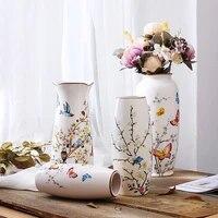 chinese style ceramic vase home decoration flower vase living room decoration porcelain vase flower character pattern vase