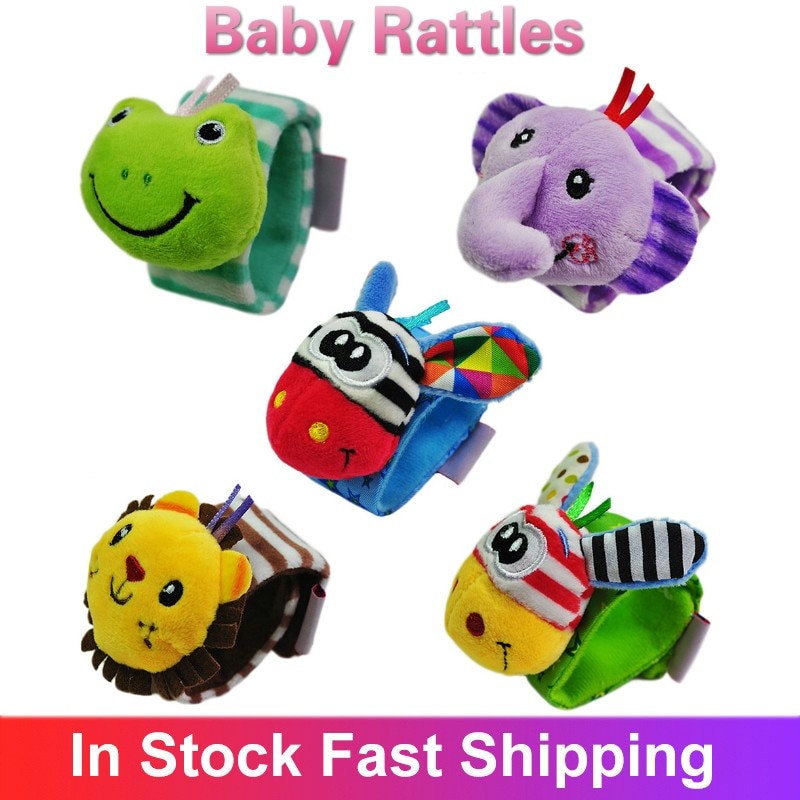 Cute Animal Baby Rattles Infant Baby Kids Rattle Toys Educational Mobiles Toys Handbell Gift For Kid