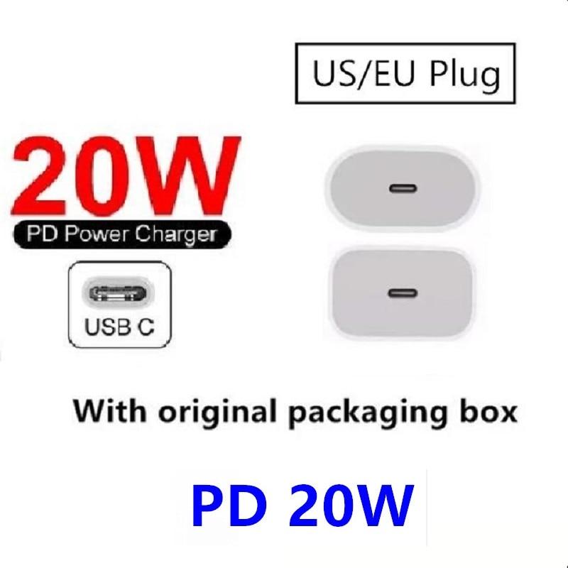 100 قطعة USB C PD شاحن 20 واط QC4.0 QC3.0 USB نوع C شاحن سريع آيفون 12 11 X Xs الهاتف PD شاحن
