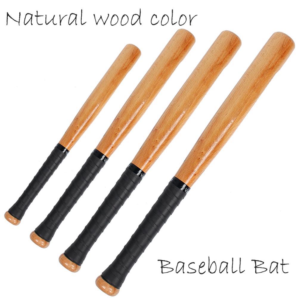 Бейсбольная Бита натуральная твердая древесина, высокопрочная Профессиональная удобная спортивная бита для Софтбола, 21, 25, 29, 33 дюйма, 1 шт.