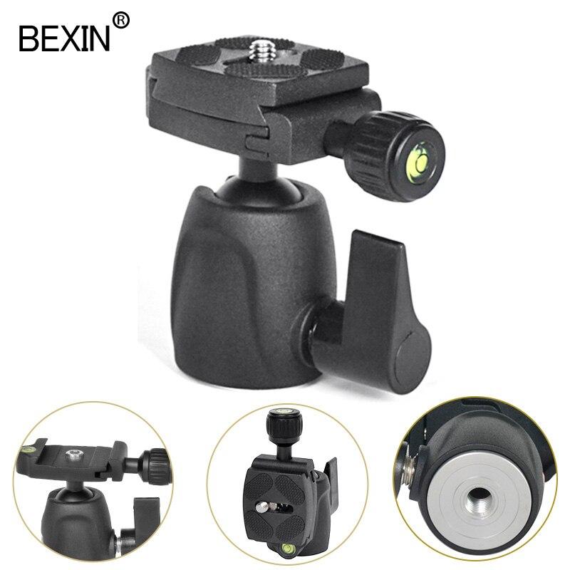 BEXIN мини шаровая Головка панорамный фото штатив монопод головка камера шаровое Крепление для Canon Nikon Sony DSLR камера с быстросъемной пластиной