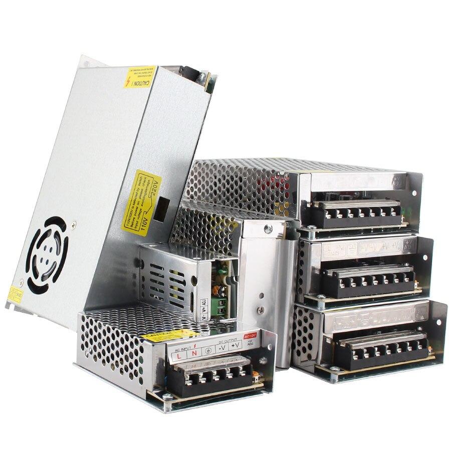 Светодиодный светильник ing Transformers 5, 12, 24 В, адаптер питания постоянного тока 5 В, 12 В, 24 В, 3A, 5A, 10A, 15A, 20A, светодиодный светильник