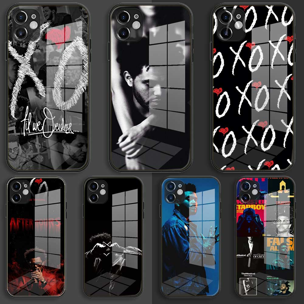 Verre En Silicone Souple Noir Coque pour iPhone 12 11 Pro X XS Max XR 8 7 6 Plus SE 2020 S Cover The Weeknd